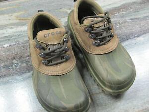 Crocs Axle All Terrain Army Camo Duck Shoes Leather  Ladies (8) READ DESC.