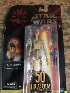 Star Wars Black Series Lucasfilm 50th Anniversary Battle Droid New Sealed