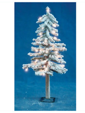 3' Holiday Bright Lights Flocked Clear Prelit Artificial Christmas Tree