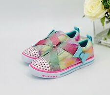 """NEW Skechers Girls Sneakers Size 11 """"Robyn"""" Light-Up Athletic Tennis Shoes"""