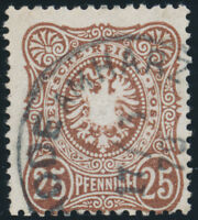 DR 1879, MiNr. 35 c, sauber gestempelt, gepr. Petry, Mi. 300,-