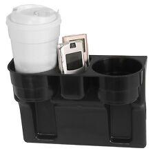 Black 2 Cup Holder Drink Beverage Seat wedge Car Auto Truck RV 1 Universal Mount