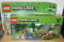 Lego Minecraft Mega Lot #21106 21114 21121 21123 21138 Desert Outpost Farm Golem