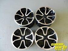 "Can Am OEM Wheel Rim Set 14"" New Take Off 14x7 14x8.5 4x137mm Black Machined"