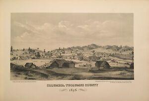 Early 1900's Litho Print of Gold Rush Columbia Tuolumne County California 1856