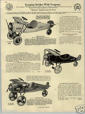 1930 PAPER AD Sampson US Army Pull Toy Truck Dump Columbia Airplane Pioneer Mail