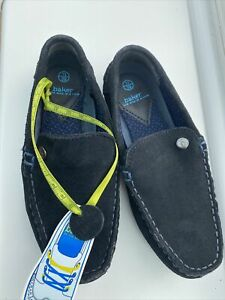 New Boys Navy Ted Baker   Slip On Moccasin Shoes  Size 11  (29)