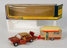 Corgi Gift Set 24 Mercedes-Benz 240D & Brown Touring Caravan. MINT/Boxed. 1970's