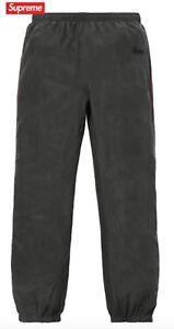 Supreme Silk Warm Up Track Pants Medium Black Red SS17
