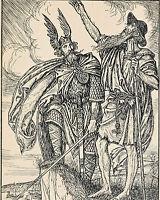 Viking Berserker Germanic Book Of Warriors Painting 8x10 Real Canvas Art Print