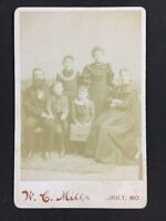 Victorian Cabinet Card Photo: Family: Milks: Gault? MO