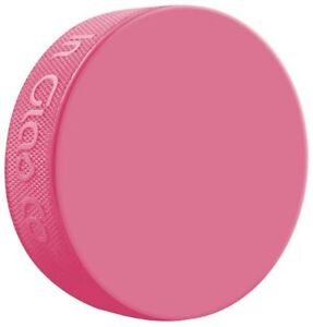 Inglasco Pink Practice Official Size and Weight Ice Hockey Puck