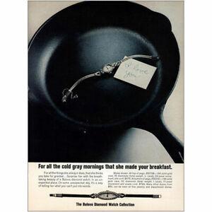 1973 Bulova Diamond Watch: Cold Gray Mornings Vintage Print Ad