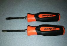 snap on tools 2 PIECE RED screwdriver set FLAT PHILIPS #1 & sgd2b USA