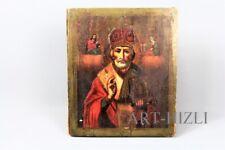Russische  Ikone Heiliger Nikolaus  19. Jh. 100% Original