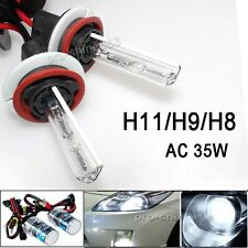 35W AC Blubs HID Fog Light Headlight Kit - H11 H9 H8 6K 6000K White FIT Acura P)