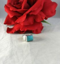 Sterling Silver Turquoise 6g Ring Size 6 Cat Rescue