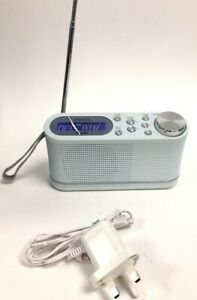 Roberts Play 10 DAB Digital Radio Tested Silver Grey With Cables N16269