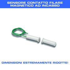 SENSORE CONTATTO MAGNETICO AD INCASSO filare altamente compatibile DIAMETRO 6mm