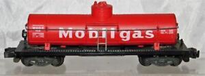 American Flyer 958 Mobilgas Single Dome Tank Car Red 1957 Uncat 4-51 Plastic