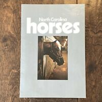 Vintage North Carolina Horses Informational Magazine Booklet w/ Colored pictures