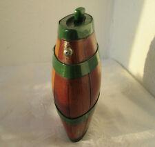 ۞ antique primitive staved pocket WOODEN BARREL CASK KEG FLASK CANTEEN  .. /6/