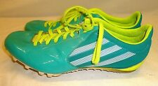 Womens Adidas Track Cleats Spikes Shoes Teal White Neon Yellow 6.5