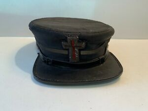"Vintage Knights Templar Mason Parade Hat, 7 1/4"", Amos Sword, Chicopee, MA"