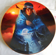 "'Visions in a Full Moon' by Andrew Farley, Cloak of Visions Plate 8-1/4"" Indian"