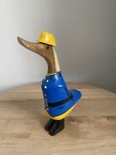 Hand painted Wooden Duck - Firefighter, Fire, Nhs, Keyworker, Gift
