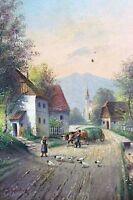 Dorfstrasse Fränkische Schweiz um 1900