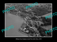 OLD LARGE HISTORIC PHOTO MISTLEY ESSEX ENGLAND TOWN AERIAL VIEW c1950