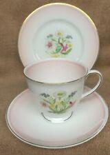 Vintage Susie Cooper pink romance china trio