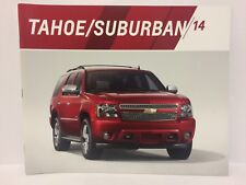 2014 Chevrolet Tahoe Suburban Dealership Brochure Chevy GM