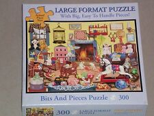 Bits and Pieces 300 Large Piece Jigsaw Puzzle WHO LEFT THE CAGE DOOR OPEN