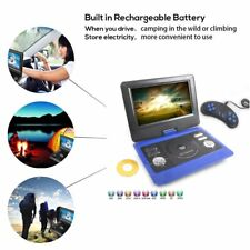 """10"""" Portable EVD DVD USB SD MP4 TV Player FM radio With Free 300 Game Disc Blue"""