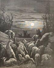 Gustave Doré le loup et les brebis La Fontaine 1868