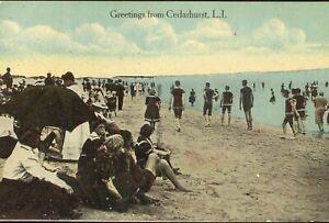 pc13973 postcard Cedarhurst Long Island New York postally used 1917