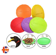 Dog Frisbee Durable Silicone Rubber Outdoor Training Interactive Flying Disc Toy