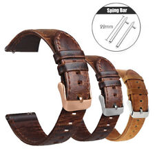 18 20 22mm Leather Wristwatch Quick Release Band For Fossil Q watch Buckle Strap
