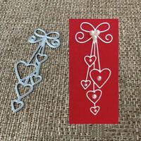 1pc DIY Heart Metal Cutting Dies Stencil Scrapbooking Album Paper Card Craft DIY