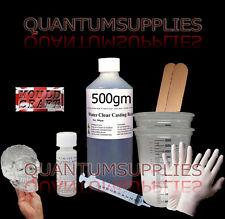 MOULDCRAFT WATER Clear resina da colata 500g TAZZE Guanti bastoni Kit-Gioielli