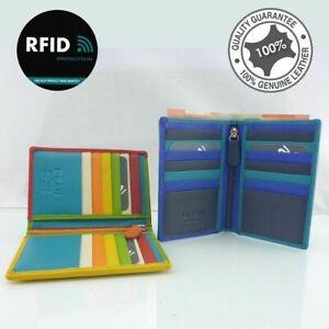 RFID Genuine Soft Leather Slim Womens Wallet Credit Card Holder Full Grain New