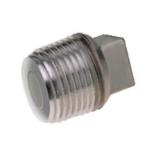 """STAINLESS STEEL 316 BSP SQUARE HEAD PLUG - 1/8"""" To 4""""  -  RATED 150lb"""