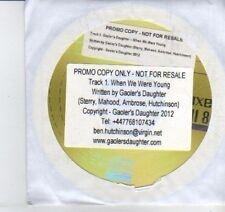 (DI792) Gaoler's Daughter, When We Were Young - 2012 DJ CD