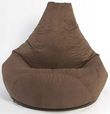 XXL BROWN HIGHBACK FILLED BEANBAG BEAN BAG GAMER CHAIR