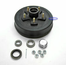 "Boat or Utility Trailer Brake Drum Hub 5 on 4 3/4 10"" x 2 1/4"" 3500 lbs Kit"