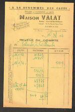 """AURILLAC (15) CONFISERIE & EPICERIE """"A LA RENOMMEE DES CAFES ,MAISON VALAT"""" 1952"""