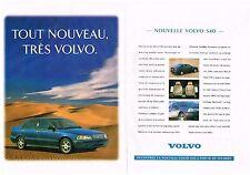 PUBLICITE 1996   VOLVO  S40  (2 pages)