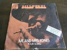 BILLY PAUL me and mrs jones/your song  ISRAELI ISRAEL P/S